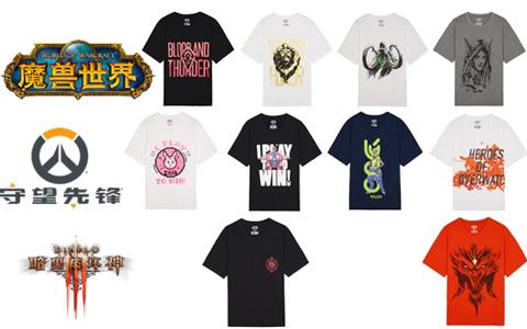 优衣库暴雪主题T恤5月18日发售 售价99元包括守望先锋等6款游戏