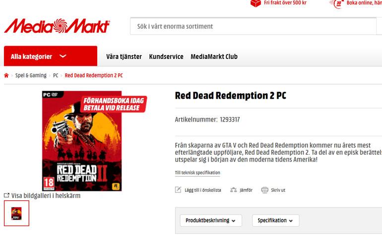 """友商都是""""豬隊友""""?瑞典零售商突然上架《荒野大鏢客2》PC版"""