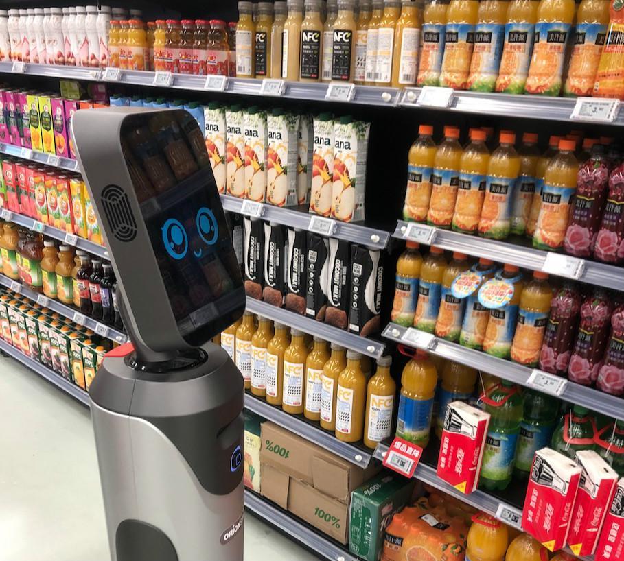 """猎豹移动机器人""""豹小秘""""进驻物美 成国内首款超市机器人"""