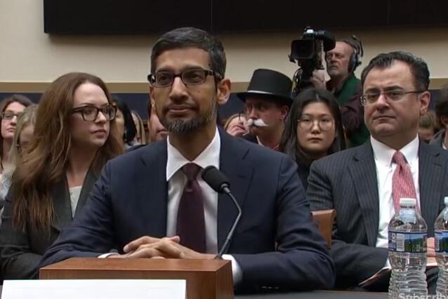 谷歌CEO皮查伊3.5小时听证会结束 众议院在三大问题上集中发难