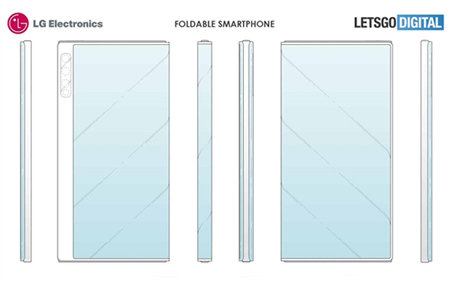 LG折叠屏手机专利曝光 酷似华为Mate X