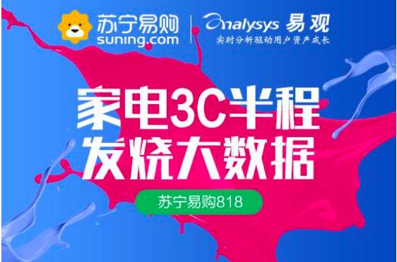 Analysys report released half 818: the appliance of 3 c suning channel accounted by more than 50%