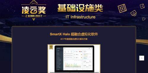 SmartX Wins Lingyun Award for Top Net Annual Hyper-Fusion Virtualization Solution