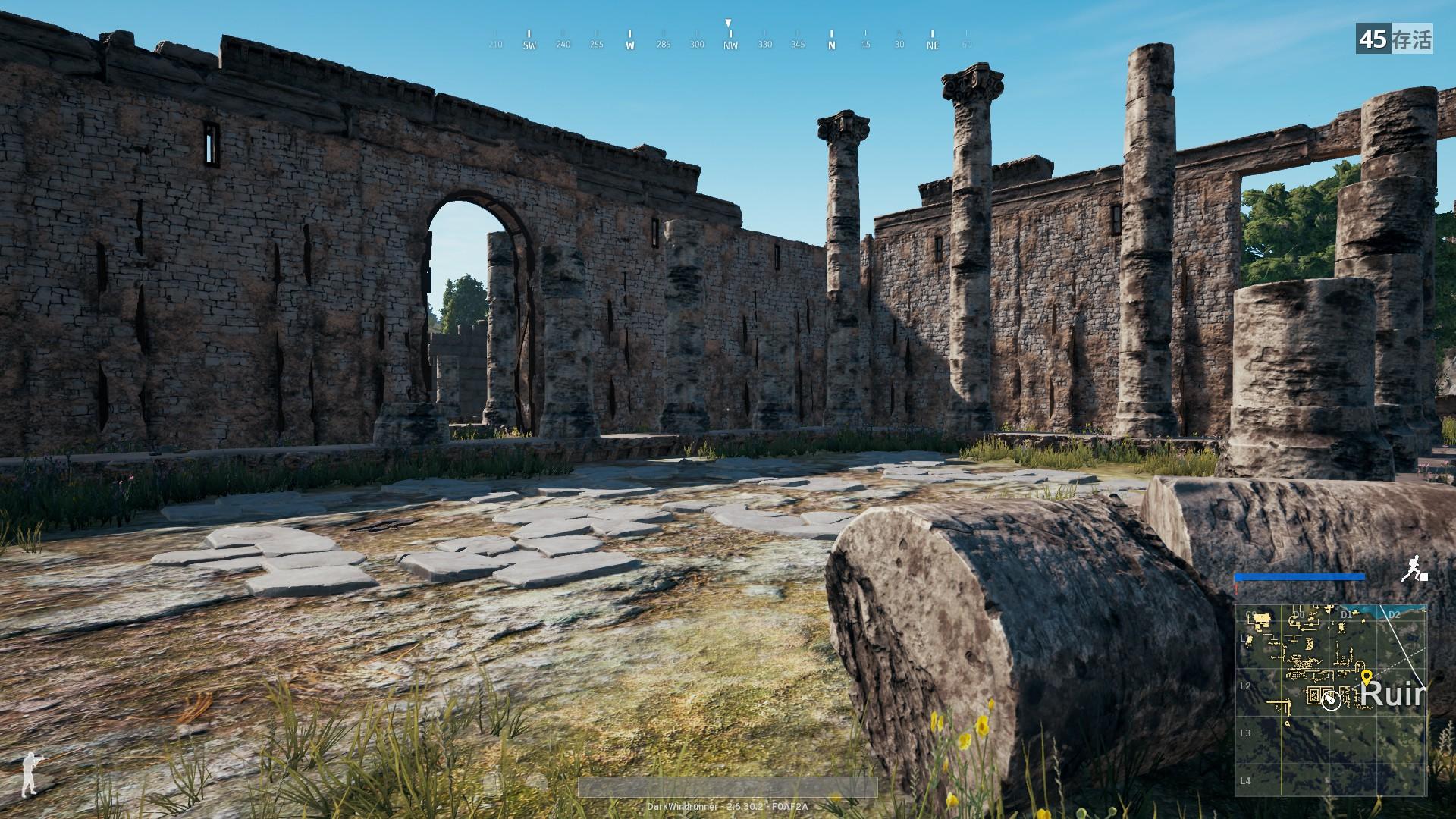 游戏中的废墟