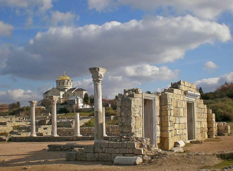 位于克里米亚半岛的塞瓦斯托波尔市的大教堂遗址
