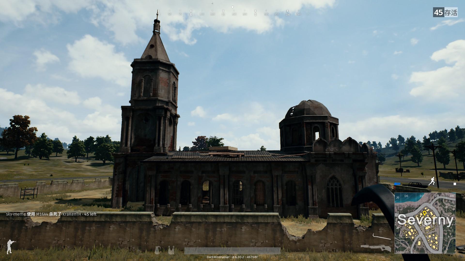 小镇中心的教堂