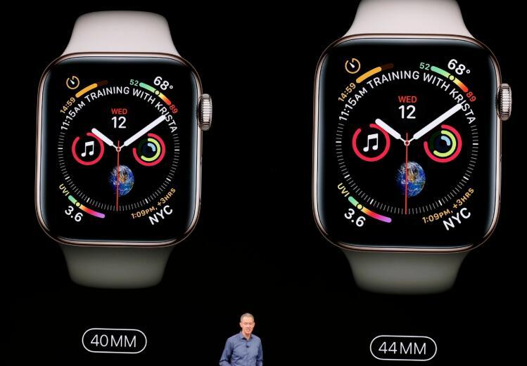苹果发布Apple Watch Series 4 全面屏设计 起售价399美元