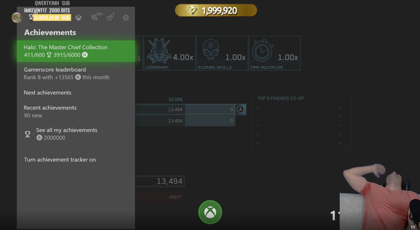 美玩家刷新Xbox One成就积分记录:200万分