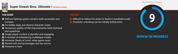 《任天堂明星大乱斗SP》MC平均分93 IGN 9.4