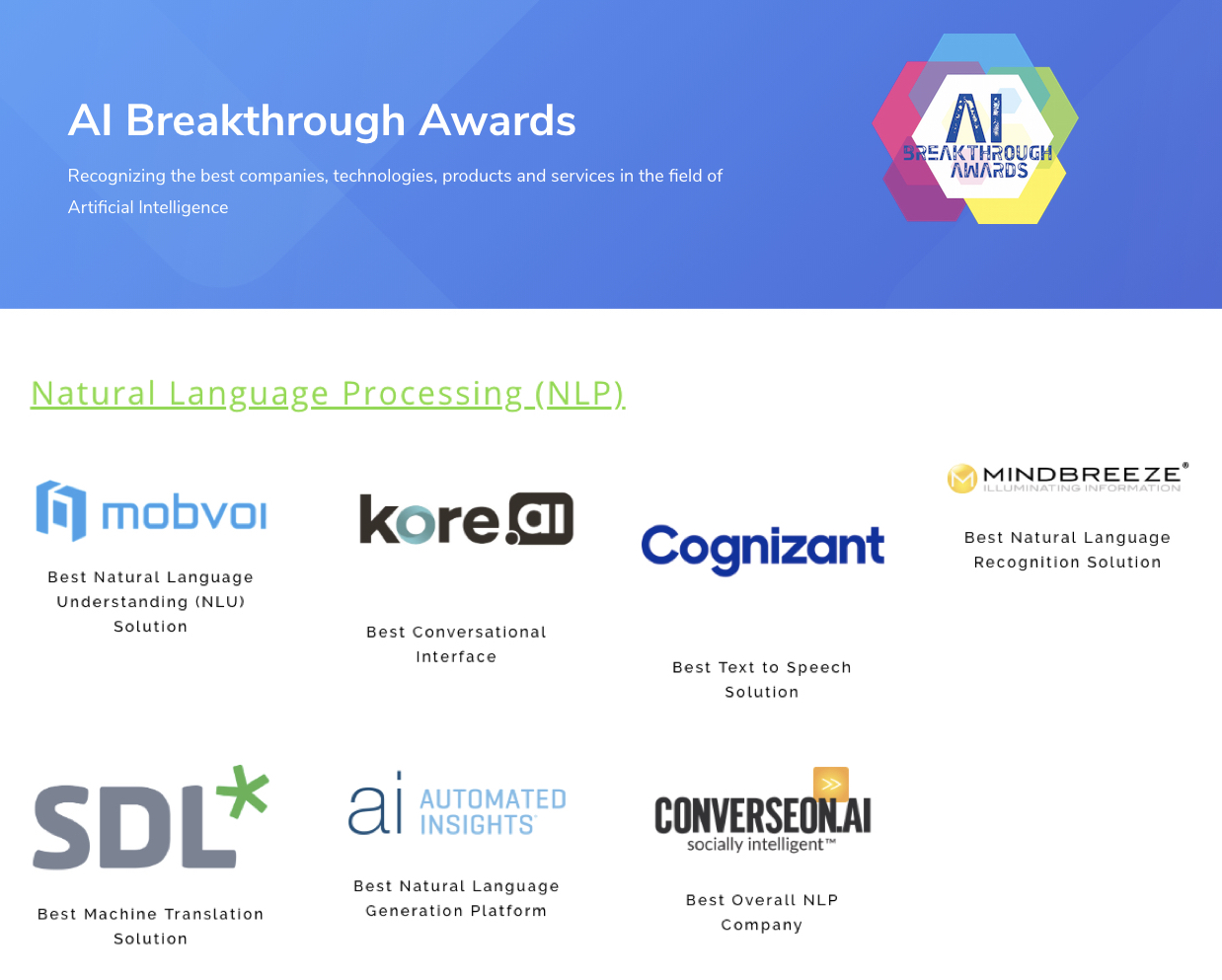 出门问问获2019 AI Breakthrough Awards