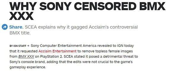 任天堂:不会效仿索尼主动审查第三方游戏