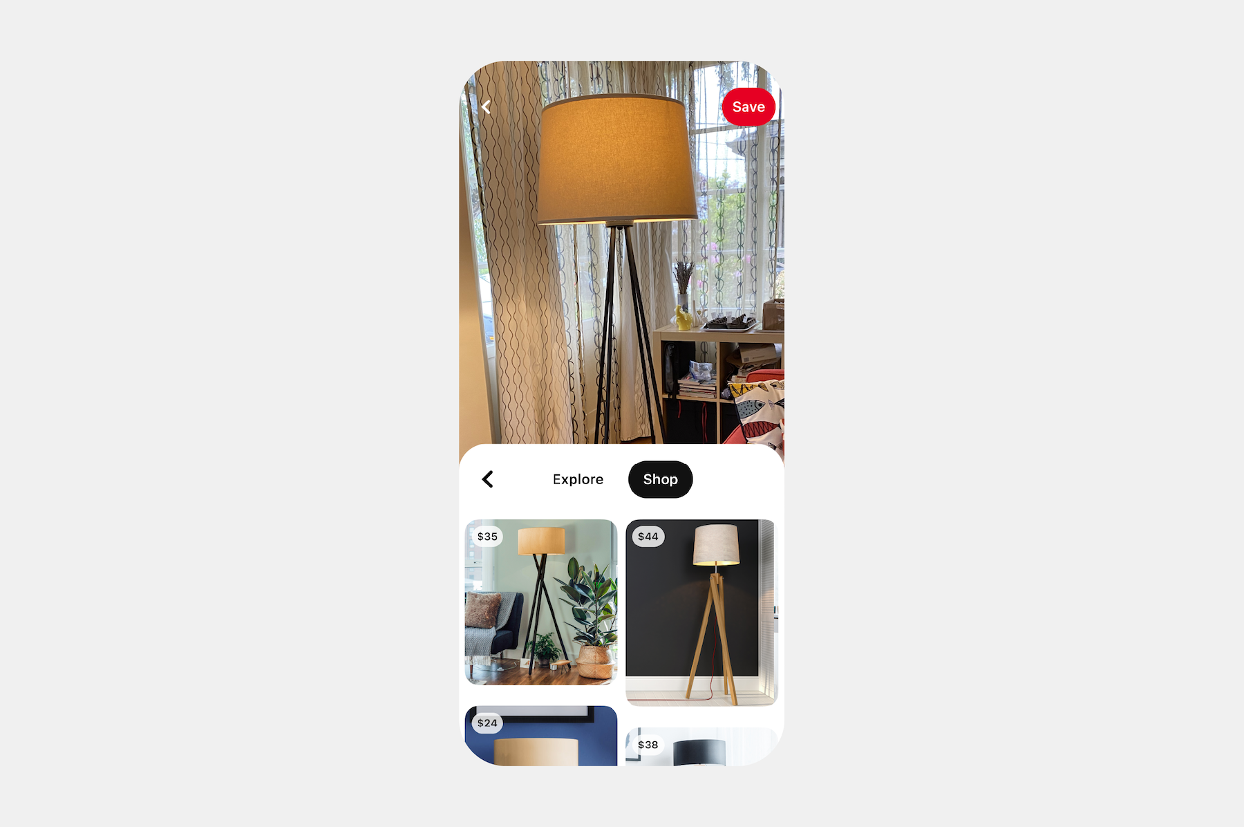 pinterest想利用图片搜索功能帮你找到同款商品图片