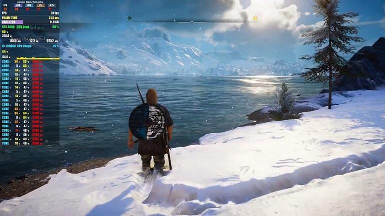 游戏《刺客信条:英灵殿》8K最高画质实测