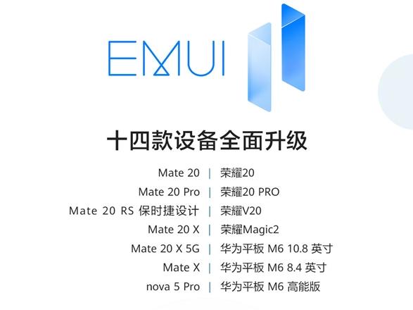 华为14款麒麟980芯片老设备升级EMIUI11