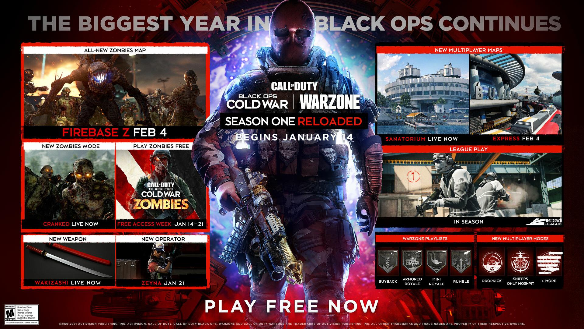 《使命召唤17:黑色行动冷战》季中更新已上线