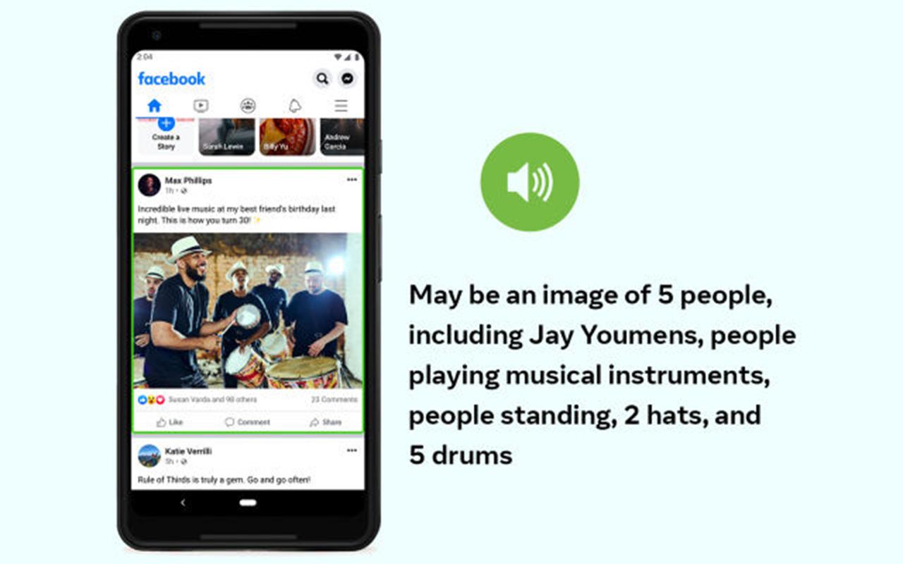 Facebook 为视障人士强化 AI 描述图片的能力