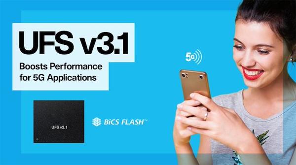铠侠与西数推出智能手机的UFS 3.1存储器