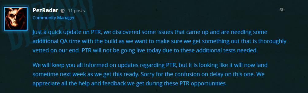 《暗黑破坏神III》第21赛季PTR因技术故障延期