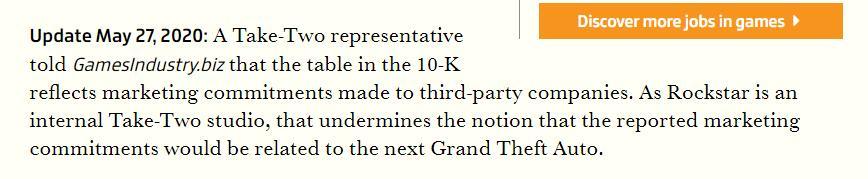 官方辟谣:2024财年开支预算与《GTA6》宣传无关