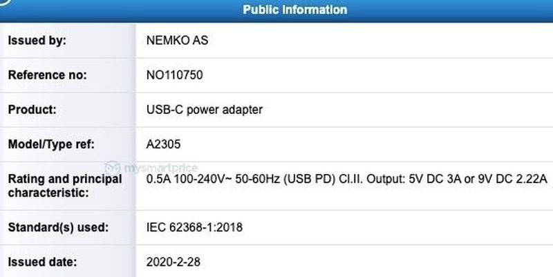 Apple-A2305-20W-Adapter-NEMKO-Cert-1.jpg