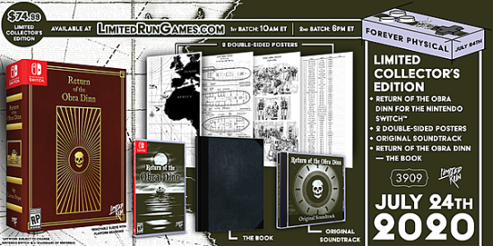Return of the Obra Dinn Nintendo Switch/PS4 physical version pre-ordered on Friday