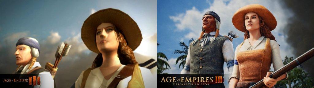 《帝国时代3:决定版》公布新版与原版对比图