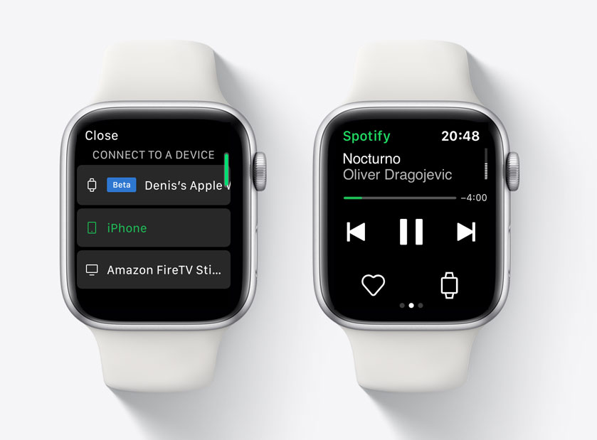 Spotify的Apple Watch版不再是遥控器了