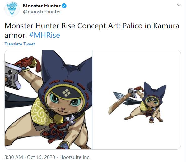 《怪物猎人:崛起》牙猎犬艾露猫新概念图曝光