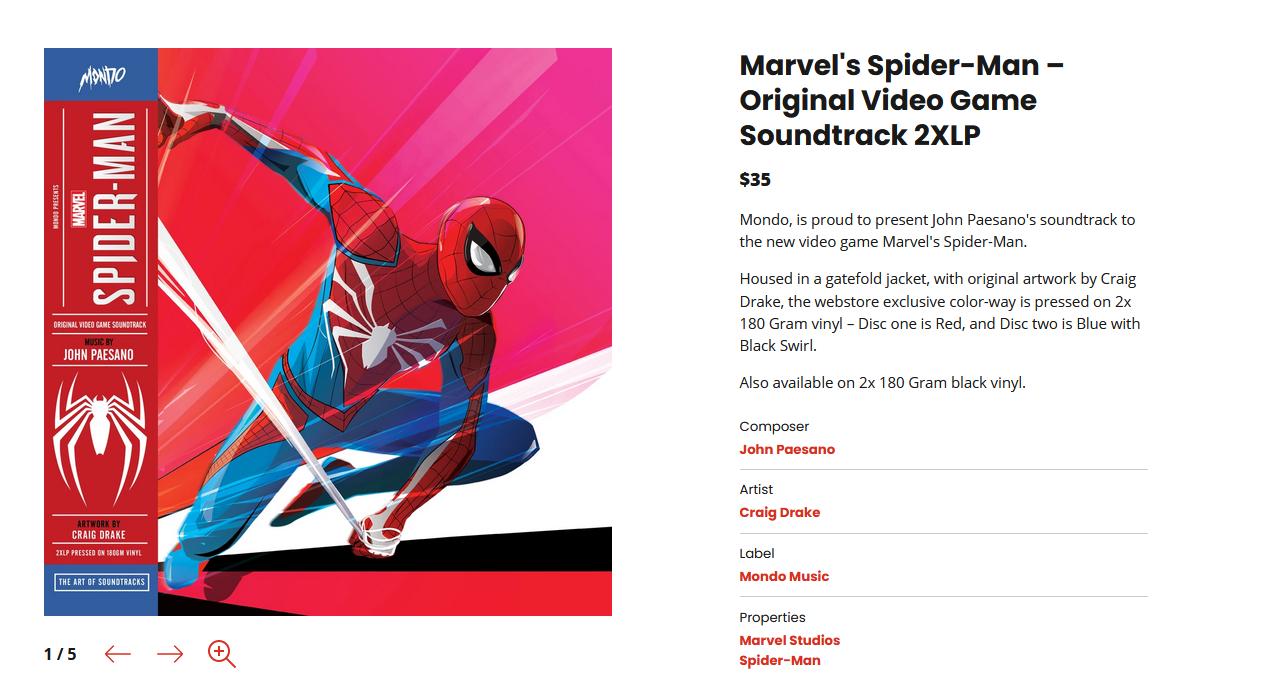 《漫威蜘蛛侠迈尔斯》原声带公开 明年上市